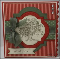 """Lovely as a tree"" inspiration.  Looks fab framed by that die cut."