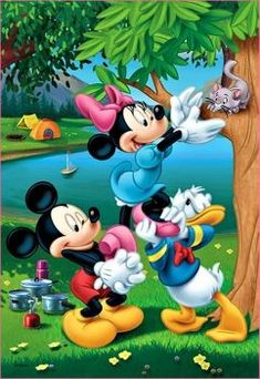 Disney Mickey & Minnie Mouse & Don .