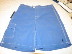 Ralph Lauren Mens swim trunks board shorts L 4156743 SSWW BSR cp3873 blue NWT #PoloRalphLauren #BoardSurfswim