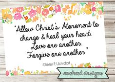 July 2015 LDS Visiting Teaching Message by DesertPeachDesign on Etsy