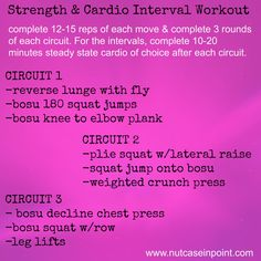 Strength and Cardio Interval Workout
