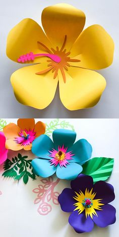 PDF Petal 101 Paper Flower Template Trace and Cut Files 2 Component Centers incl. - Flower - PDF Petal 101 Paper Flower Template Trace and Cut Files 2 Component Centers incl… – PDF Petal - Paper Flower Backdrop Wedding, Tissue Paper Flowers, Flower Paper, Diy Paper, Paper Crafts, Diy Crafts, Papier Kind, Festa Moana Baby, Diy Fleur