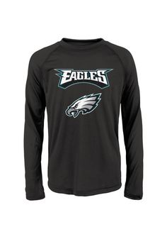 8ae7c46c1 Amp up your Young Eagles style with this Philadelphia Eagles Youth Black  Long Sleeve T-