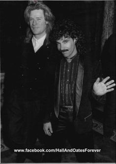 Hall and Oates photo from 1988 Like this photo? Please join my FB page to see more! www.facebook.com/HallAndOatesForever