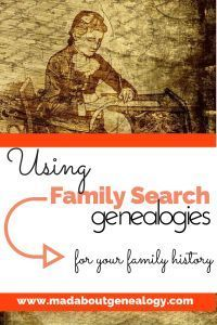 Using FamilySearch Genealogies For Your Family History. This is a great genealogy resource and if used in the right way can lead you onto some wonderful family history finds. There are millions of ancestors in this section of FamilySearch and if you haven't had a good look here then you are missing a goldmine of information!
