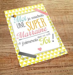 carte postale super marraine : Cartes par lillybabs