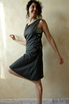 Medieval tunic dress  grey wool version  knee length by 8fantasie8, €68.00