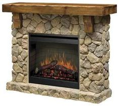 this is a gas log fireplace insert. they come with fans so they actually put out a lot of heat...