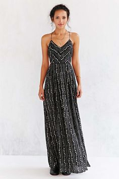 e705f144c8bdc Ecote Strappy Back Safari Maxi Dress