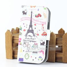 Luxury PU Leather Cover Case For Samsung Galaxy Trend Lite S7392 S7390 GT-S7392 GT-S7390 Phone Cases with Wallet & Card holder