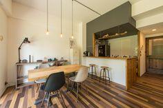 Garage Cafe, Room Interior, Interior Design, Kitchen, Table, House, Furniture, Home Decor, Houses