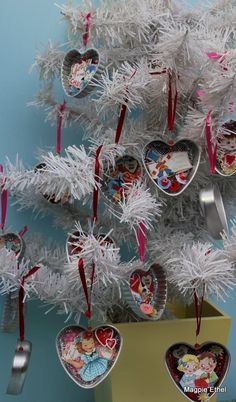 Jello Mold Valentine ornaments
