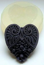 HEART - SILICONE MOULD - food use, resin, fimo etc - silicone mold