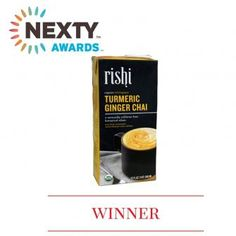 Best New Organic Food or Beverage: Rishi Tea Turmeric Ginger Chai Concentrate