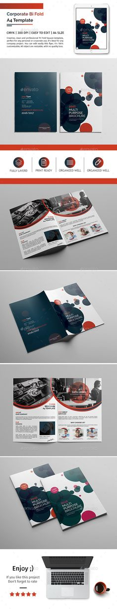 Corporate Bifold Brochure Template PSD Download here