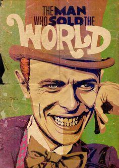 デヴィッド・ボウイとアメコミのマッシュアップアート