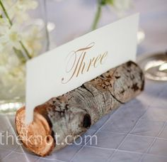 Table number idea for forest theme