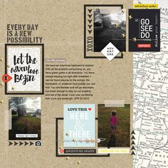 """Travel digital scrapbook layout by TNAnderson using """"You Are Here"""" collection by Sahlin Studio"""