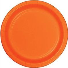 "Amazon.com: Custom & Unique {10"" Inch} 18 Count Bulk Multi-Pack Set of Large Size Square Disposable Paper Plates w/ Simple Modern Plain Festive Thanksgiving Halloween Seasonal Party ""Bright Orange Colored"": Kitchen & Dining"