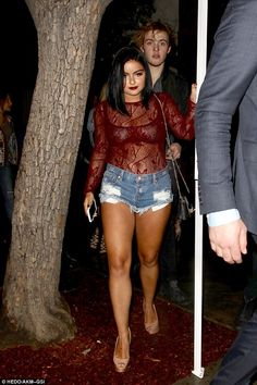 Racy lacey: Ariel Winter left little to the imagination as she enjoyed a night out for the opening of The Peppermint Club on the outskirts of Beverly Hills on Tuesday night Jeans Heels, Beautiful Celebrities, Most Beautiful Women, Amazing Women, Ariel Winter Hot, Arial Winter, One Teaspoon Shorts, Bodysuit, Fashion Night
