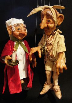 Set of  Ebenezer Scrooge and Jacob Marley's Ghost Marionettes MADE TO ORDER on Etsy, $575.00