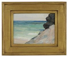 """Ocean View,"" Clark Greenwood Voorhees, oil on board, 4 3/8 x 6"", Hawthorne Fine Art."