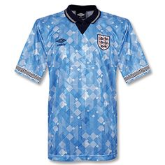 8702dbcdc Umbro England Shirt 3rd 1990 - Sky Navy England Shirt 3rd 1990 - Sky