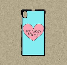 Google Nexus 5 case,Google Nexus 4 case,Sony Xperia Z1 case,Sony Xperia Z case,Htc One case,Htc One S case--Too Sassy For You,in plastic.by Ministyle360, $14.99