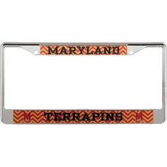 Carolina Panthers Chevron Small Over Large Metal Acrylic Cut License Plate Frame