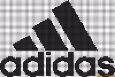 marque - make - adidas - point de croix - cross stitch - Blog : http://broderiemimie44.canalblog.com/