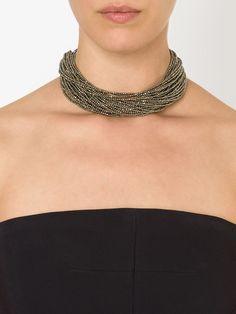 Brunello Cucinelli Beaded Choker Necklace - Mario's - Farfetch.com
