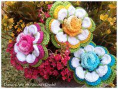 Diandra Arte em Crochê: FLOR ISADORA