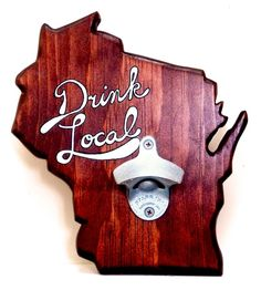 Wisconsin Bottle Opener on Etsy, $40.00