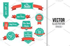 Retro Sale labels and banners. Premium Icons. $5.00