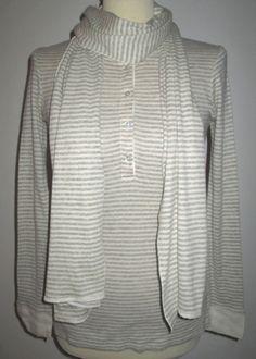 * * * MAJESTIC 3-Teiler Top+Shirt+Schal grau gestreift, Gr.2/D36 * * * | eBay Hoodies, Ebay, Tops, Sweaters, Fashion, Shirt Scarves, Grey Scarf, Gray Stripes, Divider