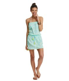 Shop Shells Allover Print Strapless Cover-Up at vineyard vines