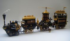 lego steampunk meat wagon & hunting party
