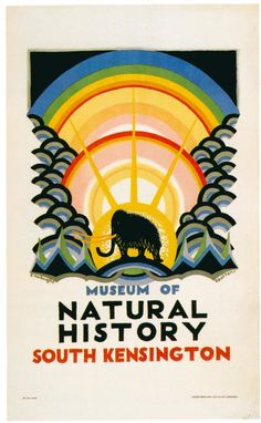 London Underground poster for the Natural History Museum, South Kensington, by E. - London Underground poster for the Natural History Museum, South Kensington, by Edward McKnight Kauf - A4 Poster, Kunst Poster, Poster Prints, Poster Boys, Art Prints, London Underground, Underground Tube, London Poster, London Art