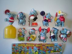 Kinder Surprise Set Funny Fanten Circus Elephants 1998 Figures Collectibles | eBay