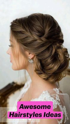 New Bridal Hairstyle, Bridal Braids, Wedding Hairstyles For Long Hair, Braids For Long Hair, Bridal Hairstyles, Bridal Updo, Hairstyles For Brides, Bridal Veils, Side Hairstyles