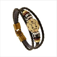 NEW Zodiac sign bracelets! Multi-layer 12 Zodiac Signs Constellation Astrology Leather Bracelets for Women and Men. Great gift for any astrology/zodiac sign lov Metal Bracelets, Bracelets For Men, Fashion Bracelets, Bangle Bracelets, Fashion Jewelry, Fashion Fashion, Fashion 2018, Curvy Fashion, Bracelet Cuir