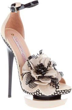 gianmarco lorenzi corsage detail sandal . . .