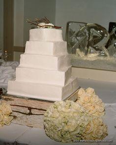 Rustic White Birch Bark Wedding Cake Stand