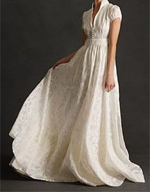 Modest Wedding Dresses with Sleeves...just needs a little work on the neckline :)