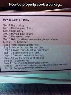 How to properly cook a turkey LOL - http://www.jokideo.com/properly-cook-turkey-lol/