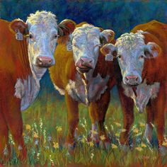 The Aunts by Rita Kirkman Pastel ~ 24 x 24 inches