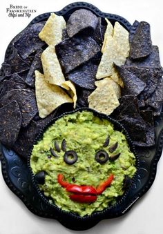 15 Halloween Party Appetizer Recipes - Bride of Frankenstein Dip