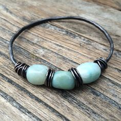 Hey, I found this really awesome Etsy listing at https://www.etsy.com/listing/230124153/pale-blue-turquoise-stone-bangle-wire