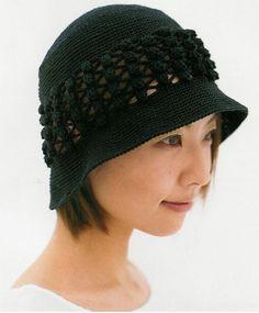 Crochet Wonders: Caps, Caps and Berets Crochet Bonnet Crochet, Crochet Beret, Crochet Cap, Knitted Hats, Sombrero A Crochet, Crochet Summer Hats, Japanese Crochet, Spring Hats, Crochet Fashion