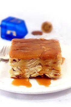 Extraordinary dessert kugel...Caramel Apple Upside Down Noodle Kugel!